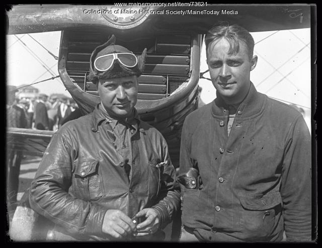 Lt. B. A. Nagle and Capt. E. W. Kilgare, Old Orchard, 1924