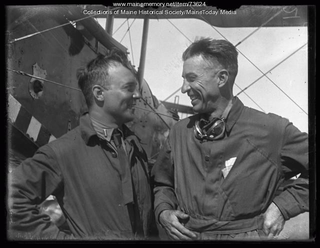 Air Show aviators, Old Orchard, ca. 1924