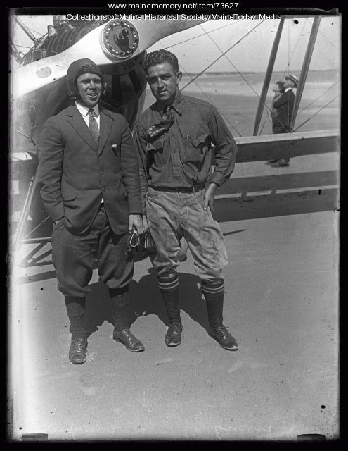 Air show, Old Orchard Beach, ca. 1924