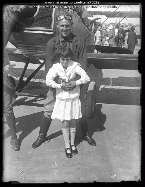 Lt. R. C. Barrowes and Anna, Old Orchard, 1924