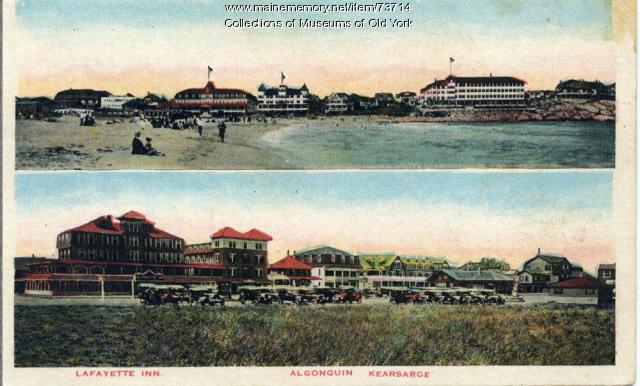 Tourist postcard, York Beach, ca. 1915
