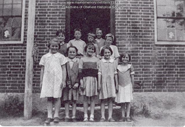 Bell Hill School, Otisfield, 1937