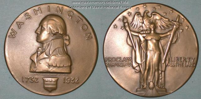 Washington bicentennial bronze medallion