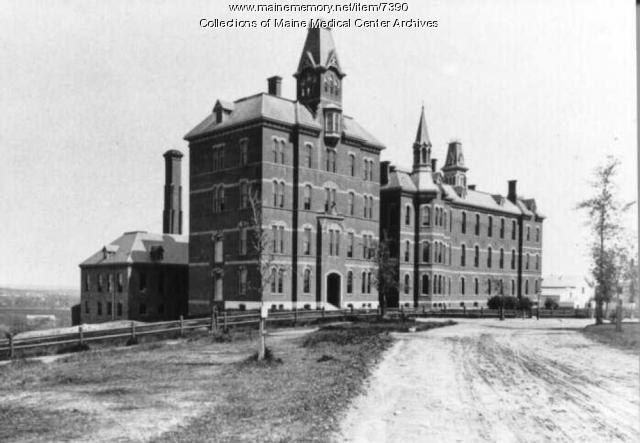 Maine General Hospital Building, Portland, ca. 1876