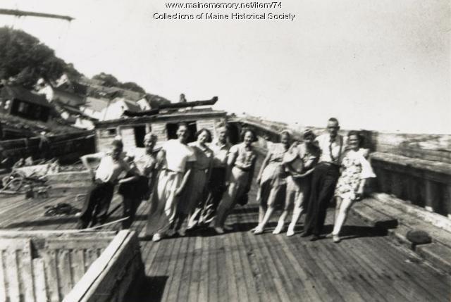 Perley Layton Family on the Hesper, ca. 1940