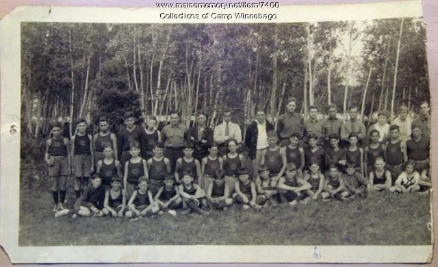 Campers at Camp Winnebago, 1921, left side
