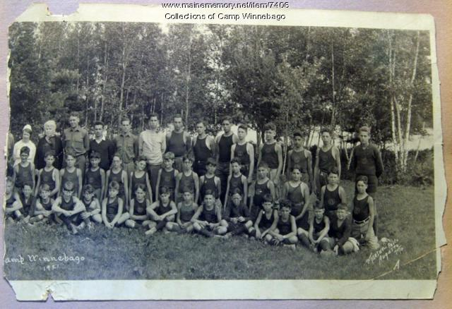 Campers at Camp Winnebago, 1921, right side