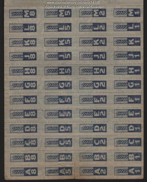 War Ration Stamps for Harry G. Carter, Surry, ca. 1943