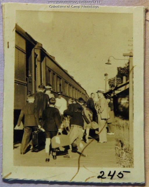 Leaving Camp Winnebago at Readfield Depot