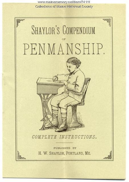 Shaylor's 'Compendium of Penmanship,' ca. 1900
