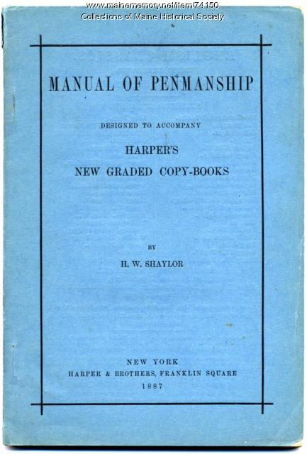 'Manual of Penmanship,' 1887