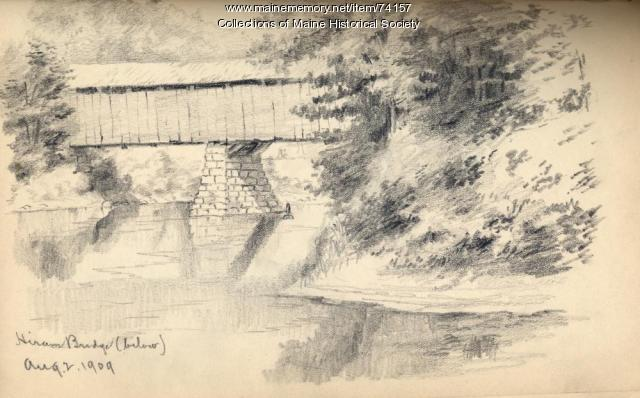 Hiram Bridge drawing, 1909