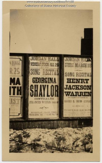 Georgina Shaylor poster, ca. 1919