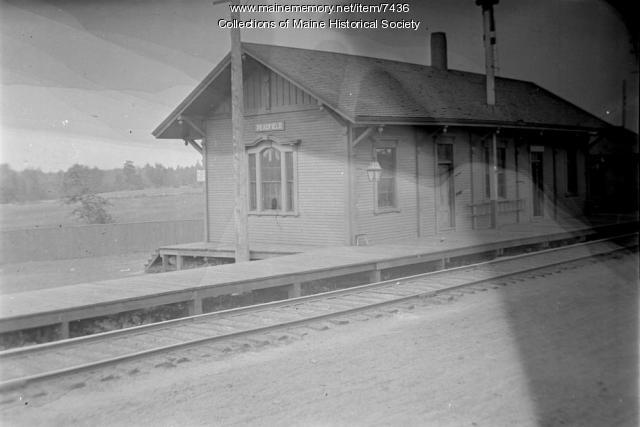 Readfield Railroad depot, July 1910