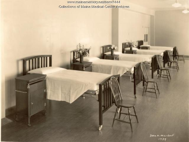 MGH hospital ward, Portland, ca. 1930
