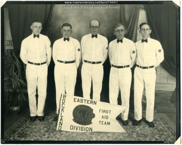 CMP First Aid Team, Rockland, 1929