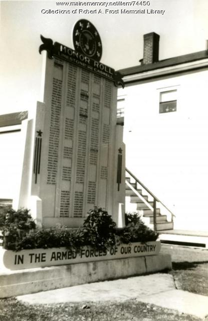 WWII Veteran's Honor Roll, Limestone, ca. 1947