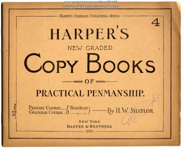 'Harper's New Graded Copy Books,' 1885