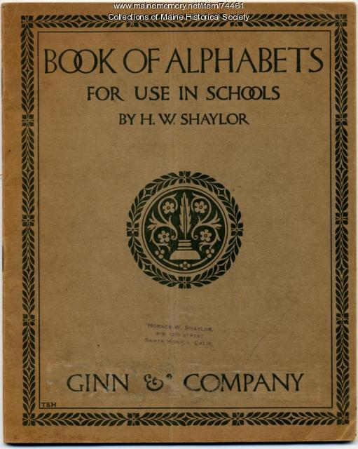 """Book of Alphabets,"" 1908"
