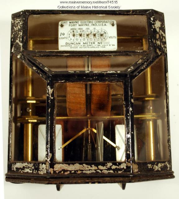 Fort Wayne-Duncan ampere-hour meter, 1895