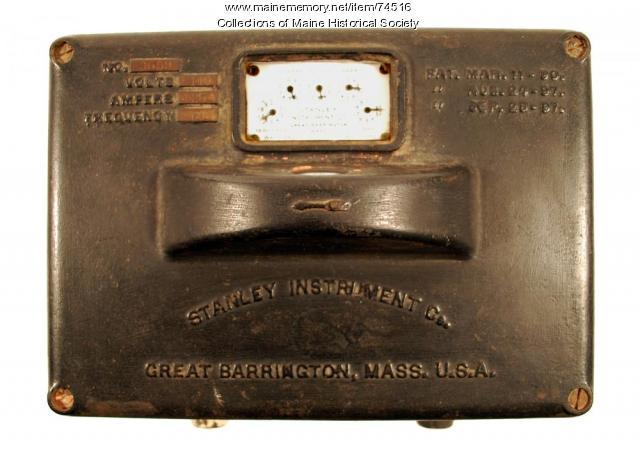 Stanley Model D electric meter, 1898