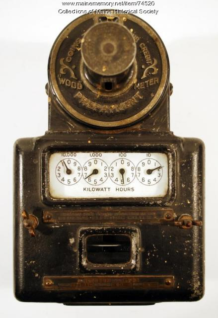 Prepay electric meter, 1907