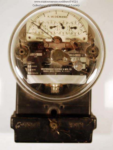 Westinghouse stamped steel meter, 1928
