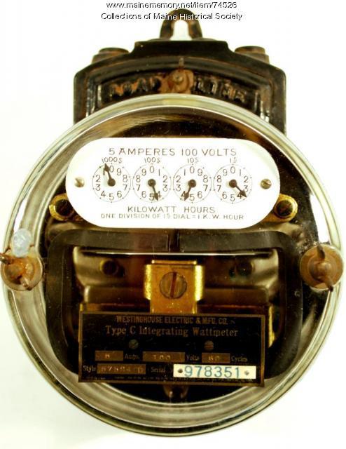Type C electric meter, ca. 1906