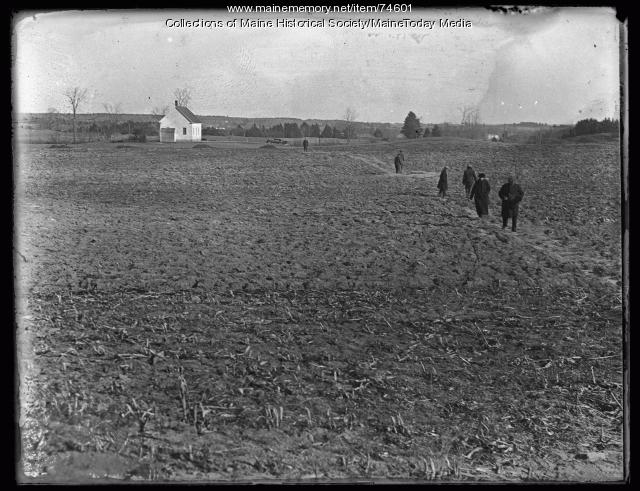 Cote farm search, Gorham, 1924