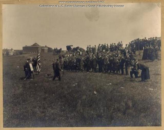 Groundbreaking for Prescott Memorial Building, 1912