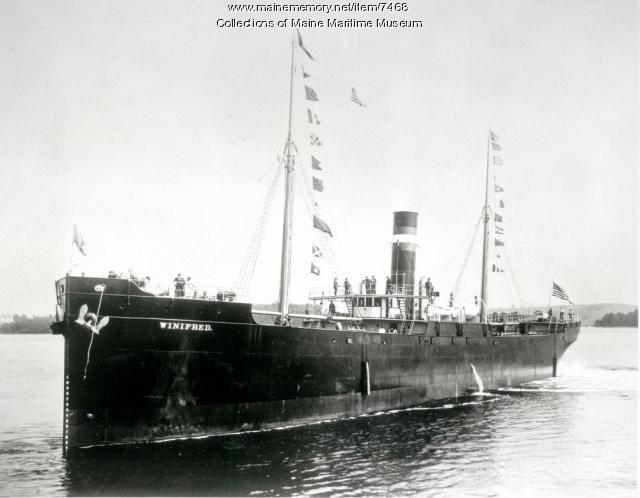 Tramp steamer WINIFRED, 1898