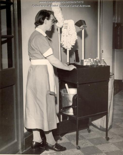 Hilda Moss, Maine General Hospital, Housekeeping