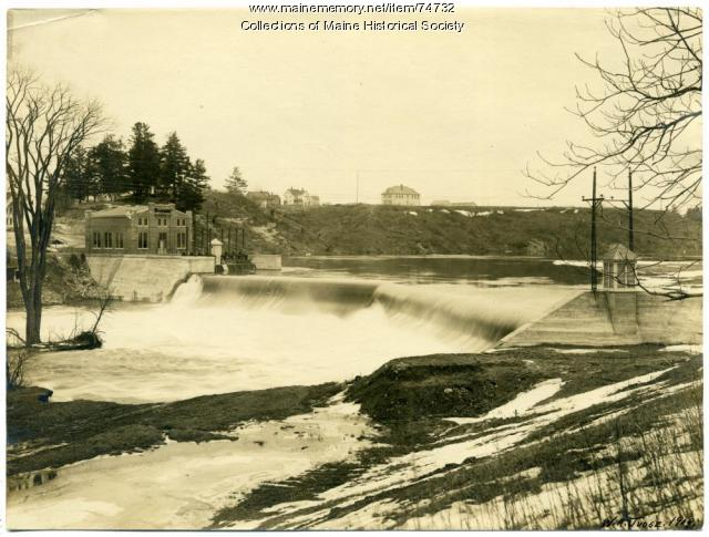 Fort Halifax dam and hydro station, Winslow, 1909