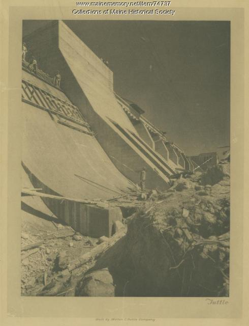 Gulf Island Dam and hydro station construction, ca. 1926