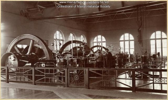 Forest Avenue power station interior, Portland, 1900