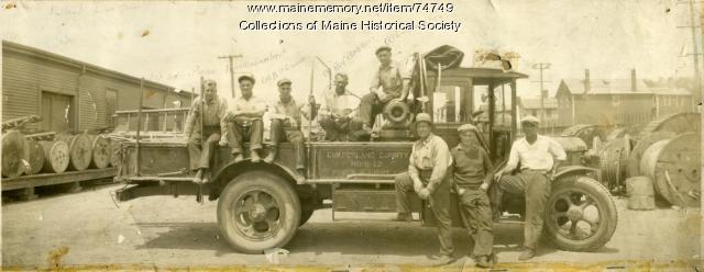 Cumberland County Power & Light crew, Portland, ca. 1915