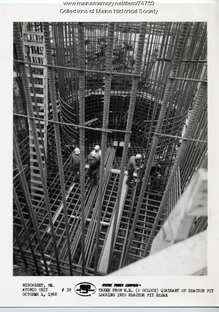Maine Yankee reactor pit construction, Wiscasset, 1968