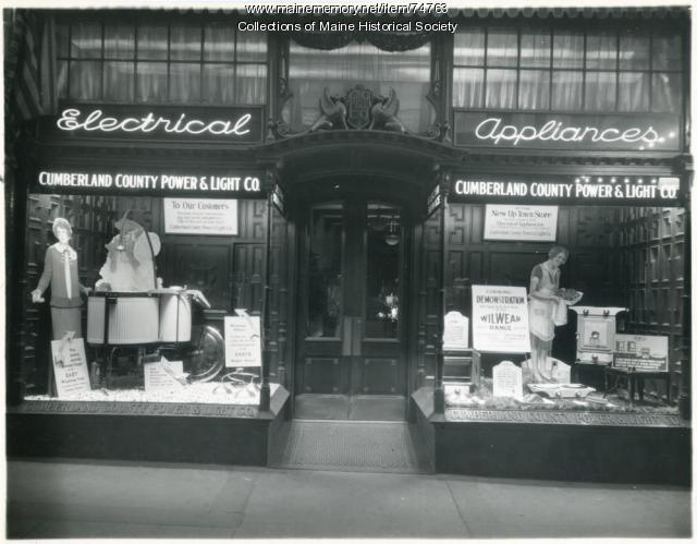 Electrical appliance store, Portland, 1928