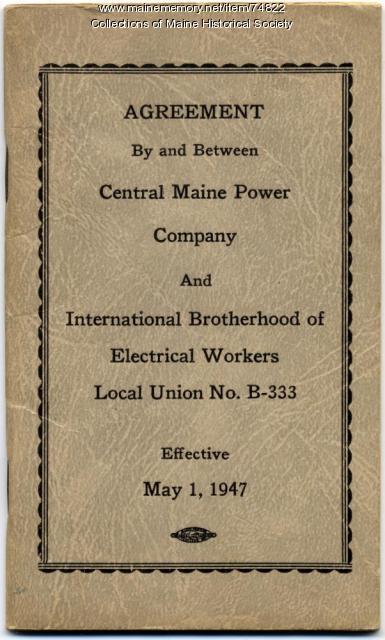 CMP, IBEW labor agreement, 1947