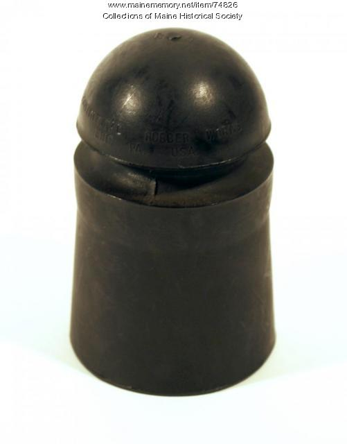 Rubber pin-type insulator, ca. 1930