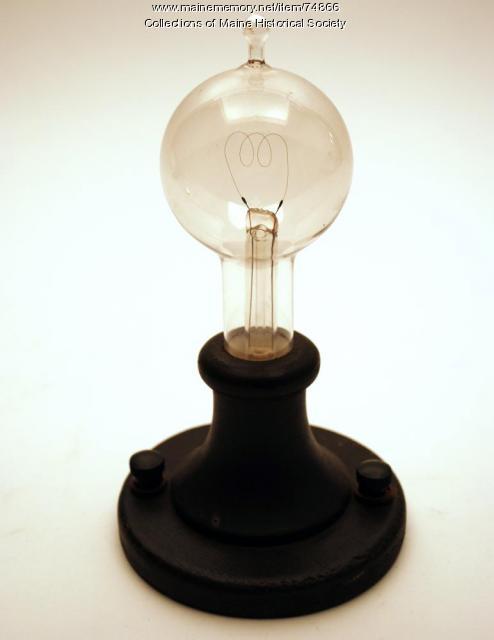 Reproduction 1879 light bulb, ca. 1929