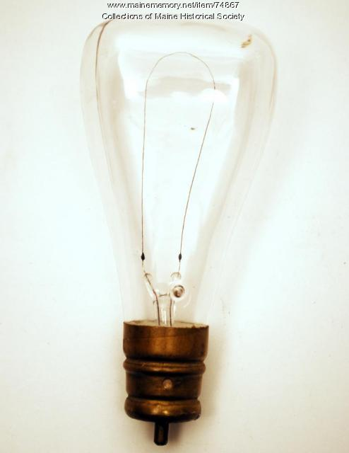 Carbonized cellulose filament bulb, ca. 1895