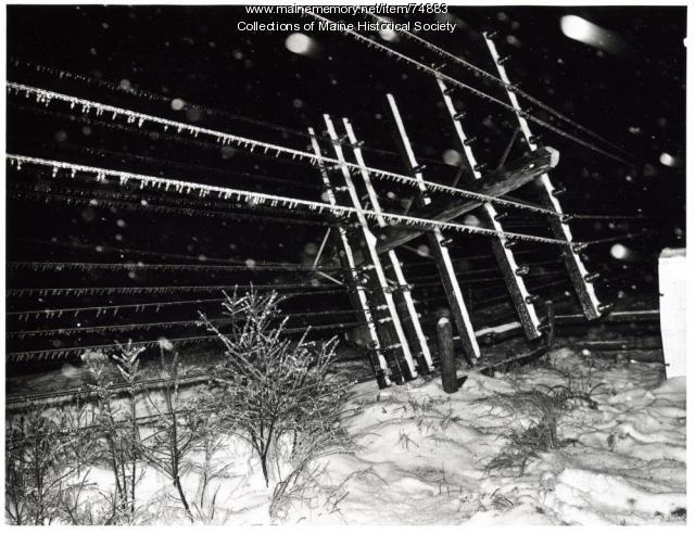 Downed power lines, 1969