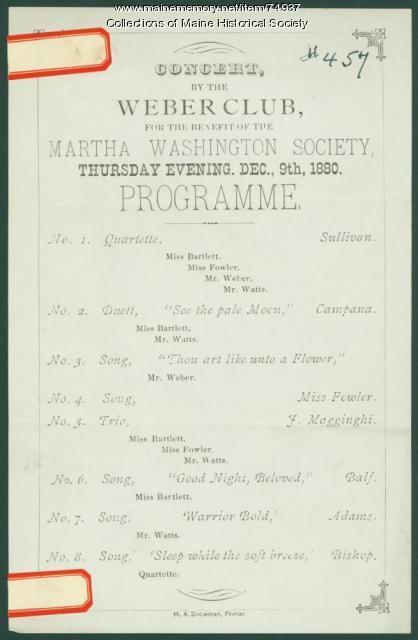 Weber Club concert, 1880
