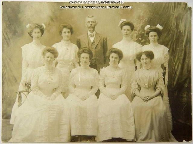 Norridgewock High School Graduating Class of 1908
