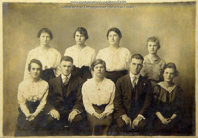 Norridgewock High School Graduating Class of 1918