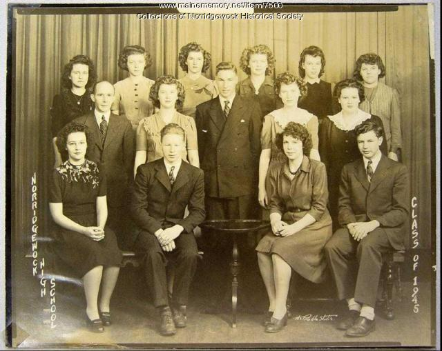 Norridgewock High School graduating class of 1945
