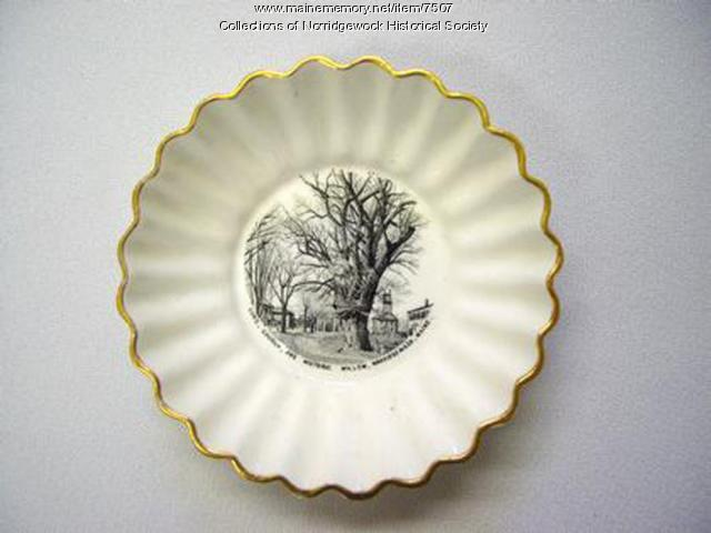 Old Congregational Church dish, Norridgewock, ca. 1800