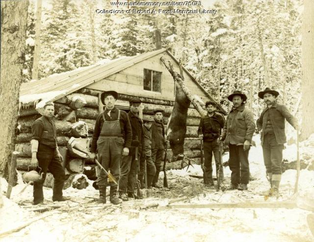 Hunting camp, Limestone, ca. 1912