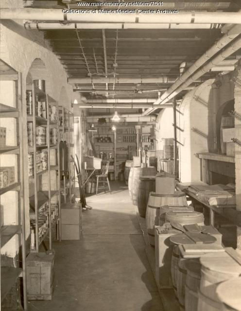 Maine General Hospital storeroom, Portland, 1926